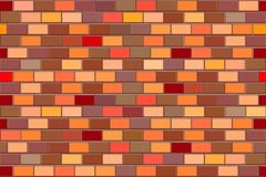 Red brick wall, seamless pattern Royalty Free Stock Images