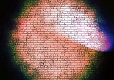 Red brick wall seamless with spotlight Royalty Free Stock Photos