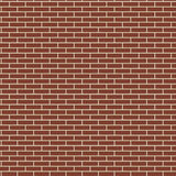 Red brick wall seamless texture background, brown color brickwork vector illustration Royalty Free Stock Photos