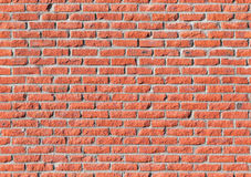 Red brick wall, seamless texture. Red brick wall, detailed seamless background photo texture Stock Images