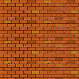 Red brick wall seamless texture. Illustration back Stock Images