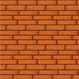Red Brick Wall Seamless Vector Illustration Stock Photos