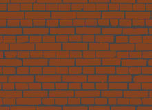 Red brick wall seamless Vector illustration background Stock Photography