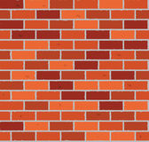 Red brick wall seamless Vector. Illustration background - texture pattern for continuous replicate Stock Photos