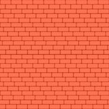 Red brick wall seamless Vector illustration background - texture pattern for continuous replicate. Stock Images