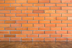 Red brick wall seamless Vector illustration background - texture Royalty Free Stock Image