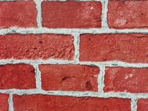 Brick wall of red color, wide panorama of masonry. Red brick wall seamless Vector illustration background - texture pattern for continuous replicate, Old brick stock photos