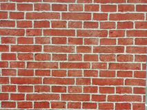 Brick wall of red color, wide panorama of masonry. Red brick wall seamless Vector illustration background - texture pattern for continuous replicate, Old brick royalty free stock photo