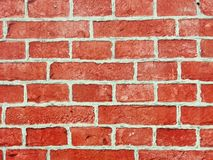 Brick wall of red color, wide panorama of masonry. Red brick wall seamless Vector illustration background - texture pattern for continuous replicate, Old brick stock photography