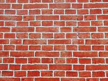 Brick wall of red color, wide panorama of masonry. Red brick wall seamless Vector illustration background - texture pattern for continuous replicate, Old brick stock image