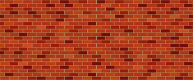 Red brick wall. Seamless vector pattern royalty free illustration