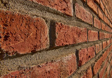 Red Brick Wall side Profile Royalty Free Stock Photography