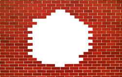 Red brick wall. space for text. Modern red brick wall. Square with space for text Stock Images