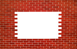 Red brick wall. Square with space for text Royalty Free Stock Images
