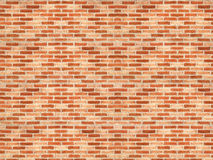 Red brick wall. In the street Royalty Free Stock Images