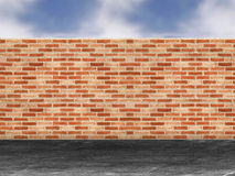 Red brick wall. In a street Royalty Free Stock Photos