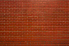 Red brick wall suitable for a background. Stock Photography