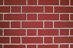 Red brick wall texture. Closeup view Stock Photography