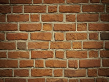 Red brick wall texture or background. With vignetting Stock Image