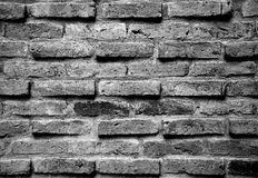 Red brick wall texture for background in black and white