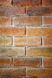 Red Brick Wall Texture Background. Closeup of a section of red brick in a wall for a texture background Stock Images