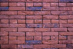 Red brick wall. Texture. Background royalty free stock photography