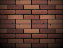 Red brick wall texture background. Vector illustration. Urban backdrop Stock Image