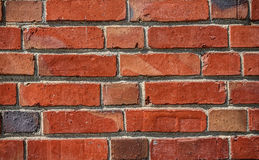 Red Brick Wall for Texture Background Royalty Free Stock Photos