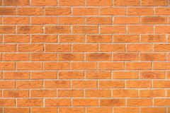 Red Brick Wall. Texture Background View of a Red Brick Wall with Plenty of Copy Space Stock Photos