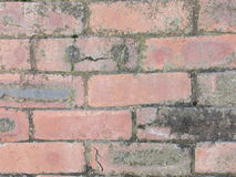 Red brick wall close up backround Stock Photo