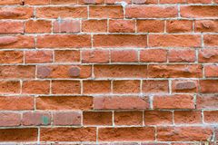 Red brick wall texture. Close up of brick wall background stock photo