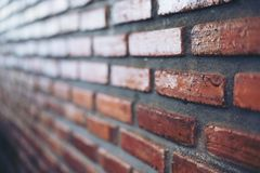Red brick wall texture and detail Stock Photo