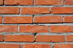 Red brick wall texture. Detailed background of red brick wall texture Stock Image