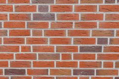 Red Brick Wall Texture. Full Background View royalty free stock image