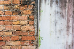 Red brick wall texture grunge background. Stock Images