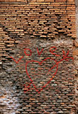 Red brick wall texture grunge background Stock Images