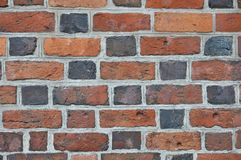 Red brick wall texture grunge background Stock Photos