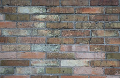 Red brick wall texture grunge background with vignetted corners Royalty Free Stock Photo