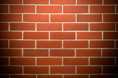 Red brick wall texture grunge background with vintage filter. Royalty Free Stock Photography
