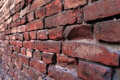 Red brick wall texture for interior design.