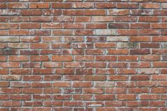 Red brick wall texture with matt film effect Royalty Free Stock Images