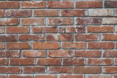 Red brick wall texture with matt film effect Royalty Free Stock Image