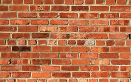 Red brick wall. Red textured brick wall background stock photo