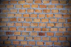 Red brick wall Red brick to build a wall to build a wall.  Royalty Free Stock Images