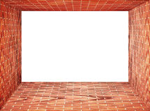 Red Brick wall tunnel frame Royalty Free Stock Photo