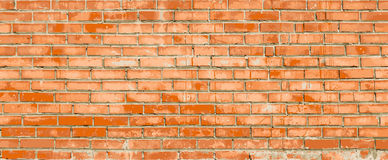 Red brick wall vector illustration background Royalty Free Stock Photo