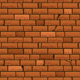 Red brick wall vector seamless background Royalty Free Stock Photography