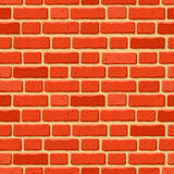 Red brick wall. Vector seamless texture. Royalty Free Stock Photo