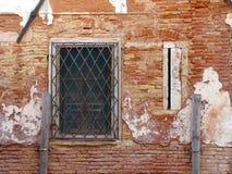 Red Brick Wall, Venice,  Italy Royalty Free Stock Image