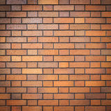 Red brick wall with vignette, (grunge style background) Royalty Free Stock Photography